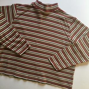 Boxy striped 90's long sleeve top